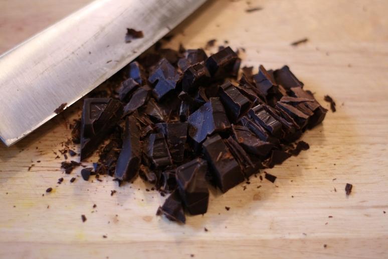 Chopped unsweetened chocolate