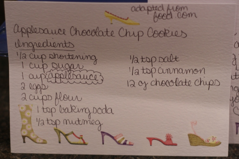 Cute card with the recipe