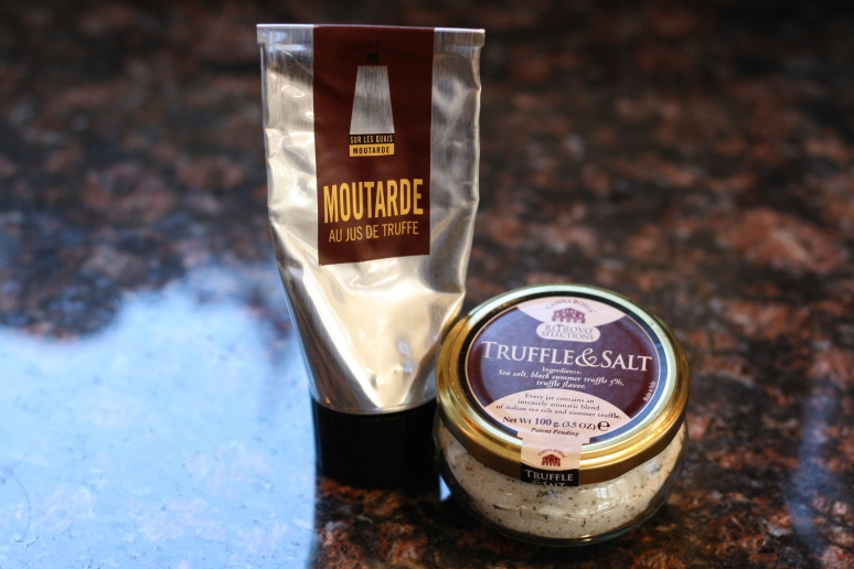 Truffle mustard and truffle salt