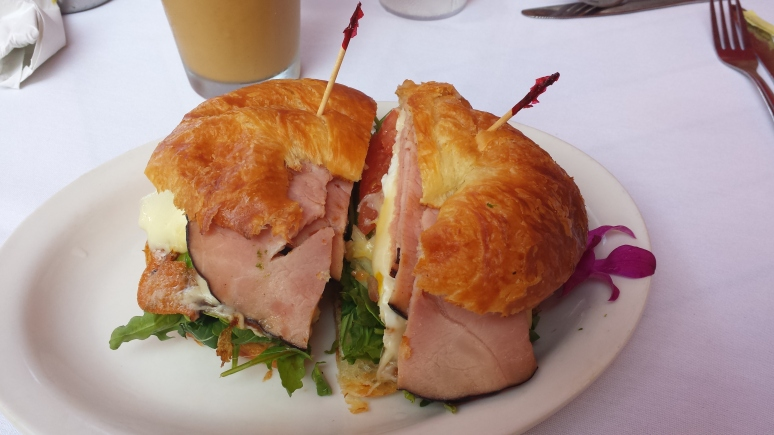 Croissant breakfast sandwich from Lava Java