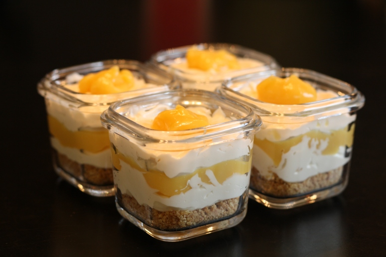Assembled into parfait cups