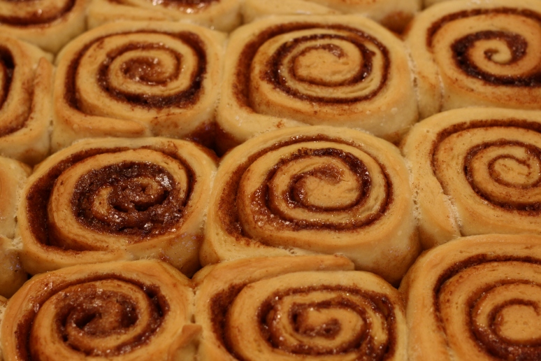 Baked rolls, out of the oven