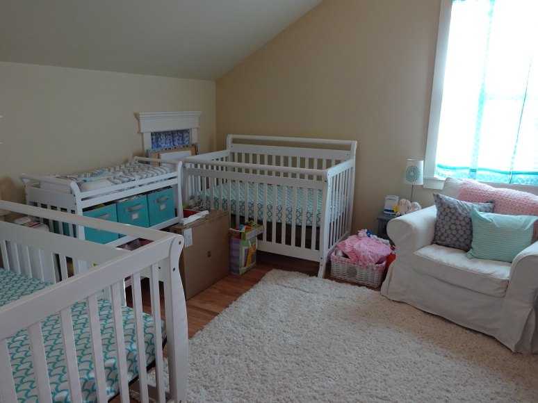 Cribs and changing table